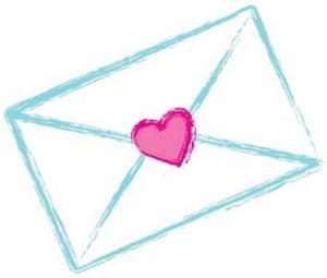 Enveloppe cœur - Heart enveloppe