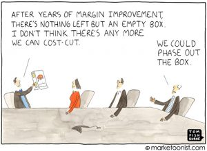 Margin improvements cartoon
